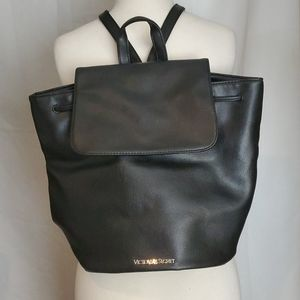 Victoria's Secret Faux Leather Drawstring Backpack